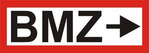 """FW-Hinweisschild """"BMZ + Pfeil rechts"""""""