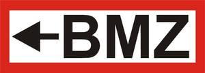 """FW-Hinweisschild """"BMZ + Pfeil links"""""""