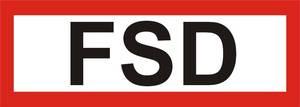 """FW-Hinweisschild """"FSD"""""""